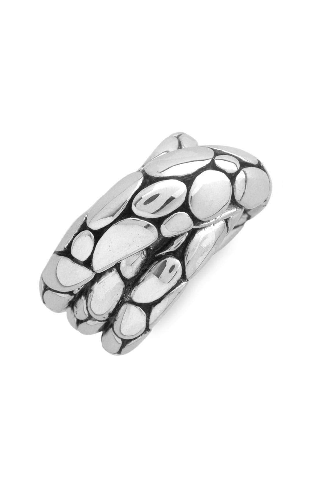 'Kali' Silver Twist Ring,                         Main,                         color, Silver