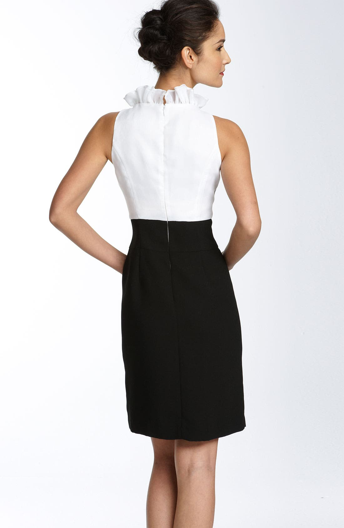 Alternate Image 2  - JS Collections Ruffle Collar Crepe Sheath Dress
