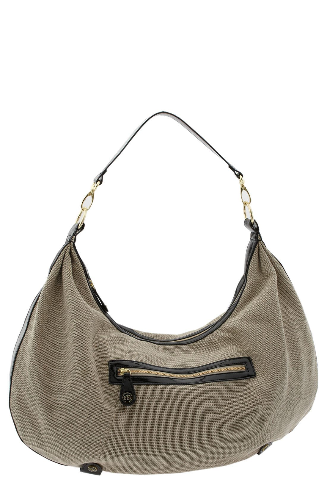 Main Image - Ted Baker London 'Oversized' Convertible Canvas Hobo
