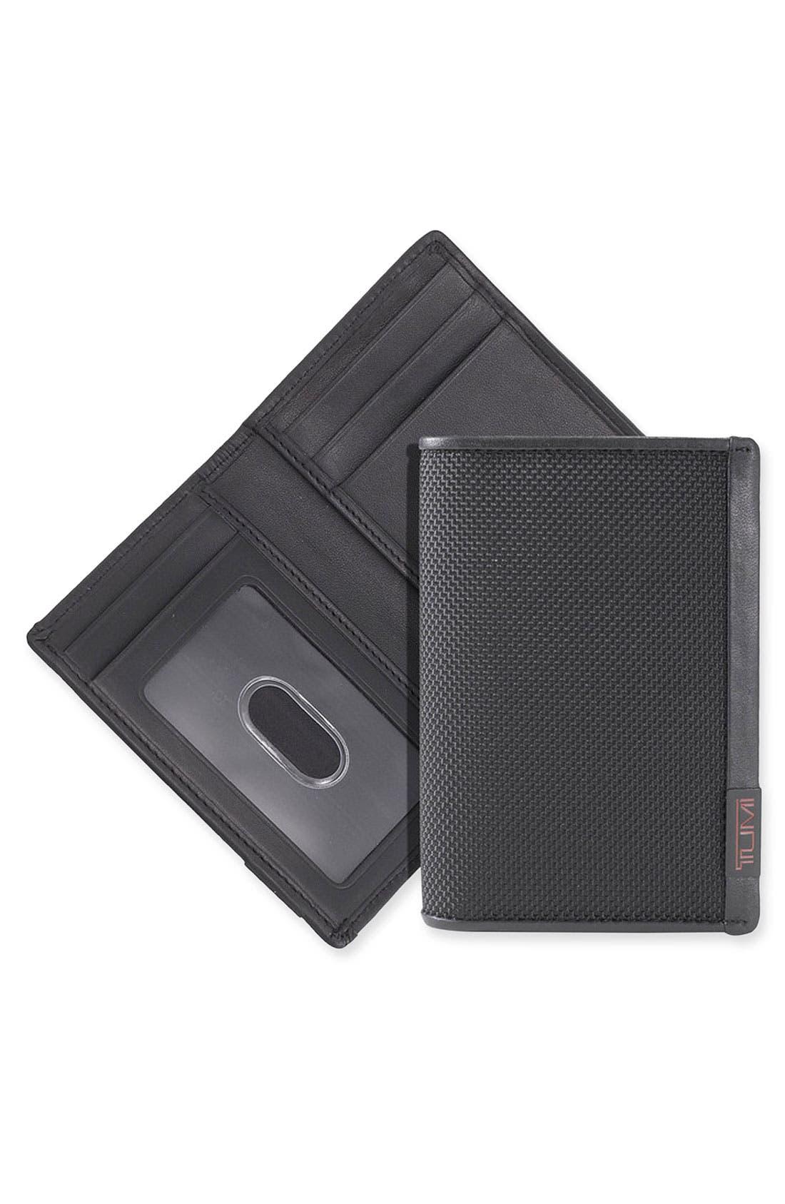 Alpha Multi Window Card Case,                         Main,                         color,  Black