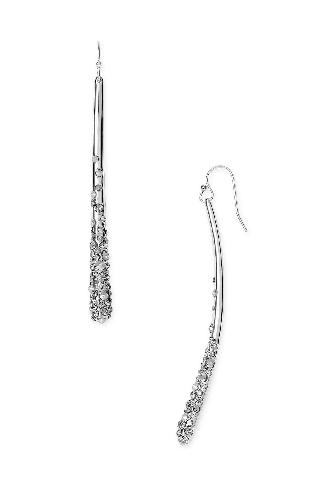 'Miss Havisham' Crystal Encrusted Earrings,                             Main thumbnail 1, color,                              Rhodium