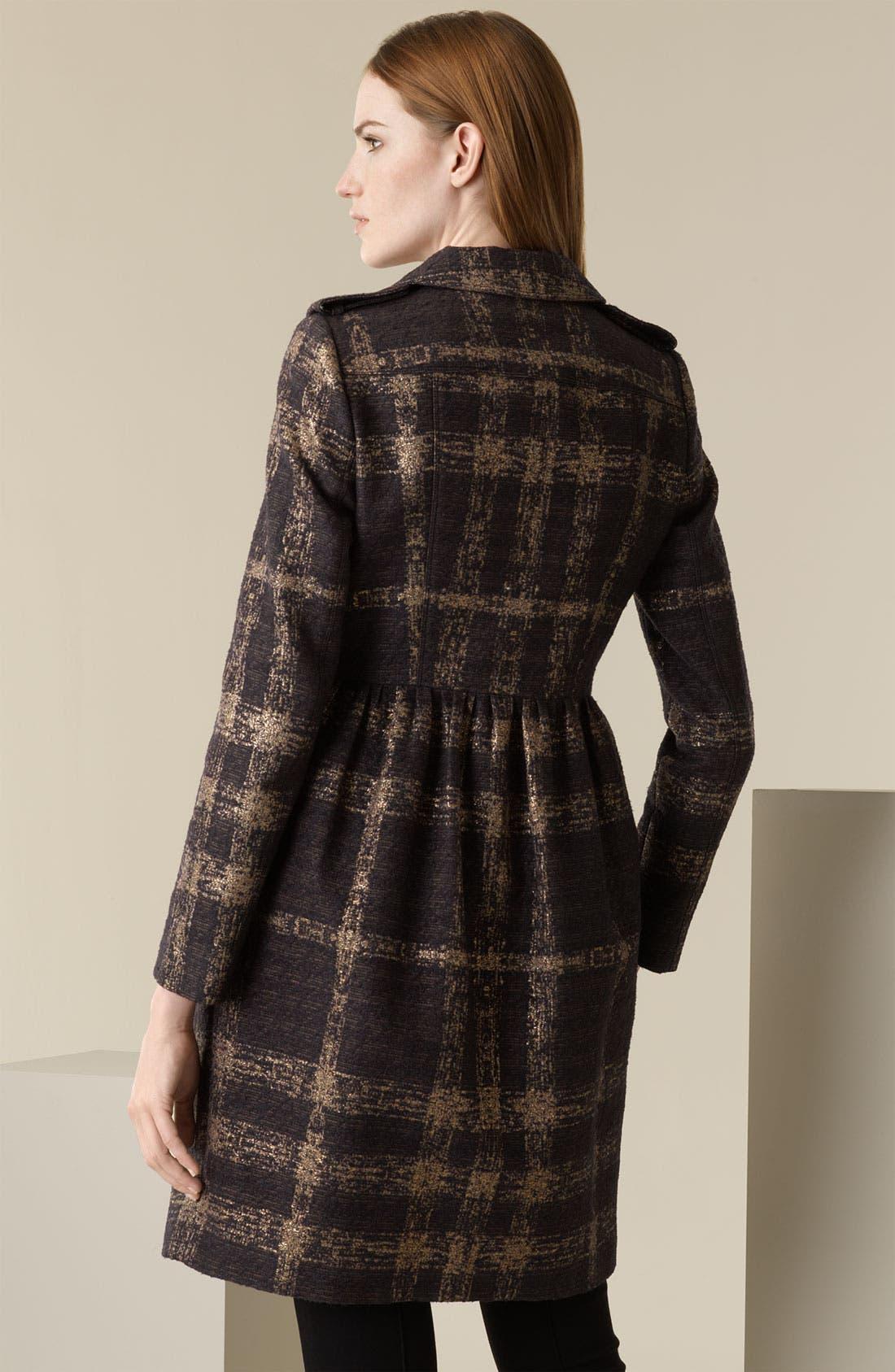 Alternate Image 2  - Burberry London Shimmer Check Trench Coat