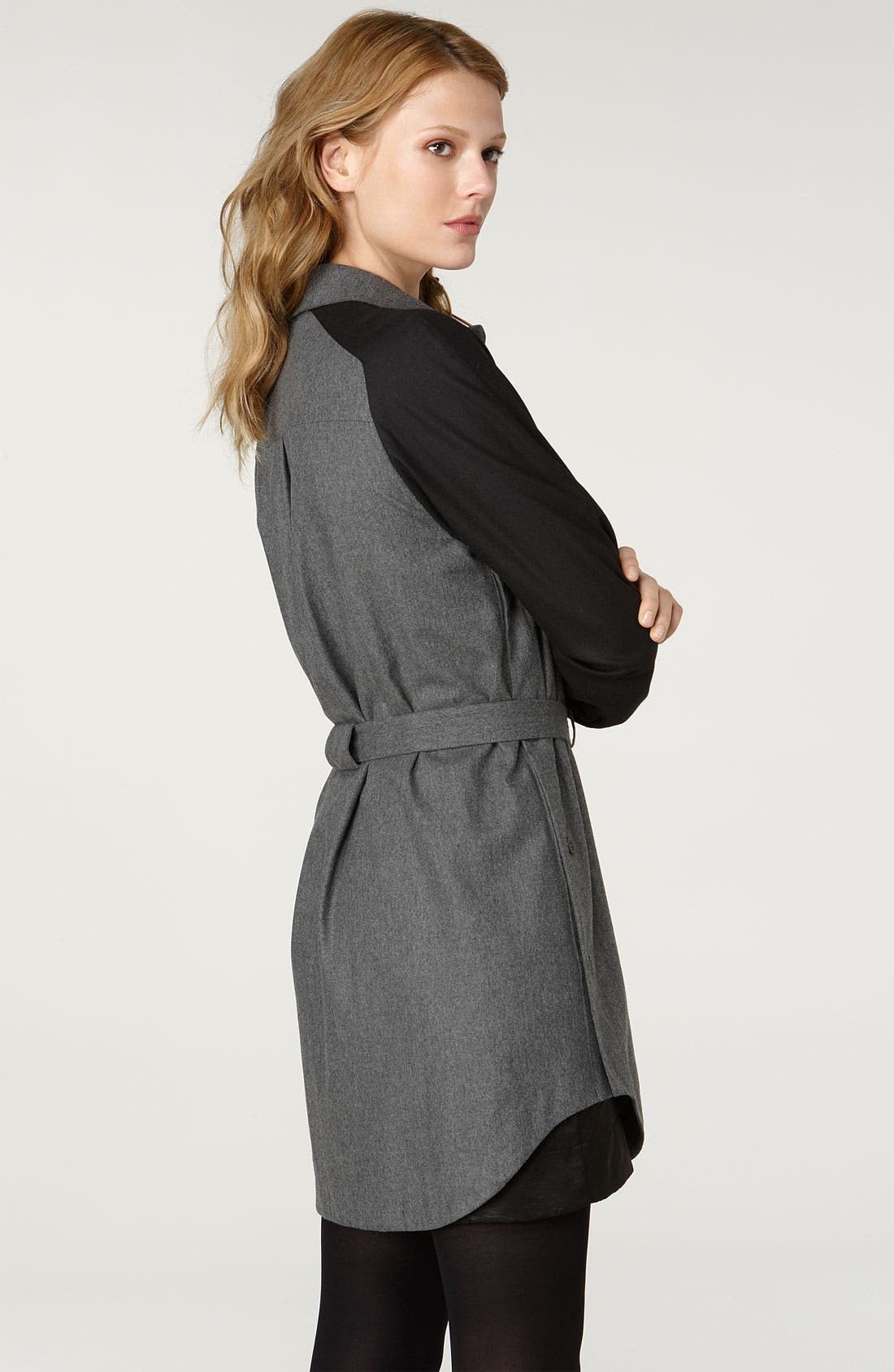 Alternate Image 2  - See by Chloé Two Tone Flannel Shirtdress