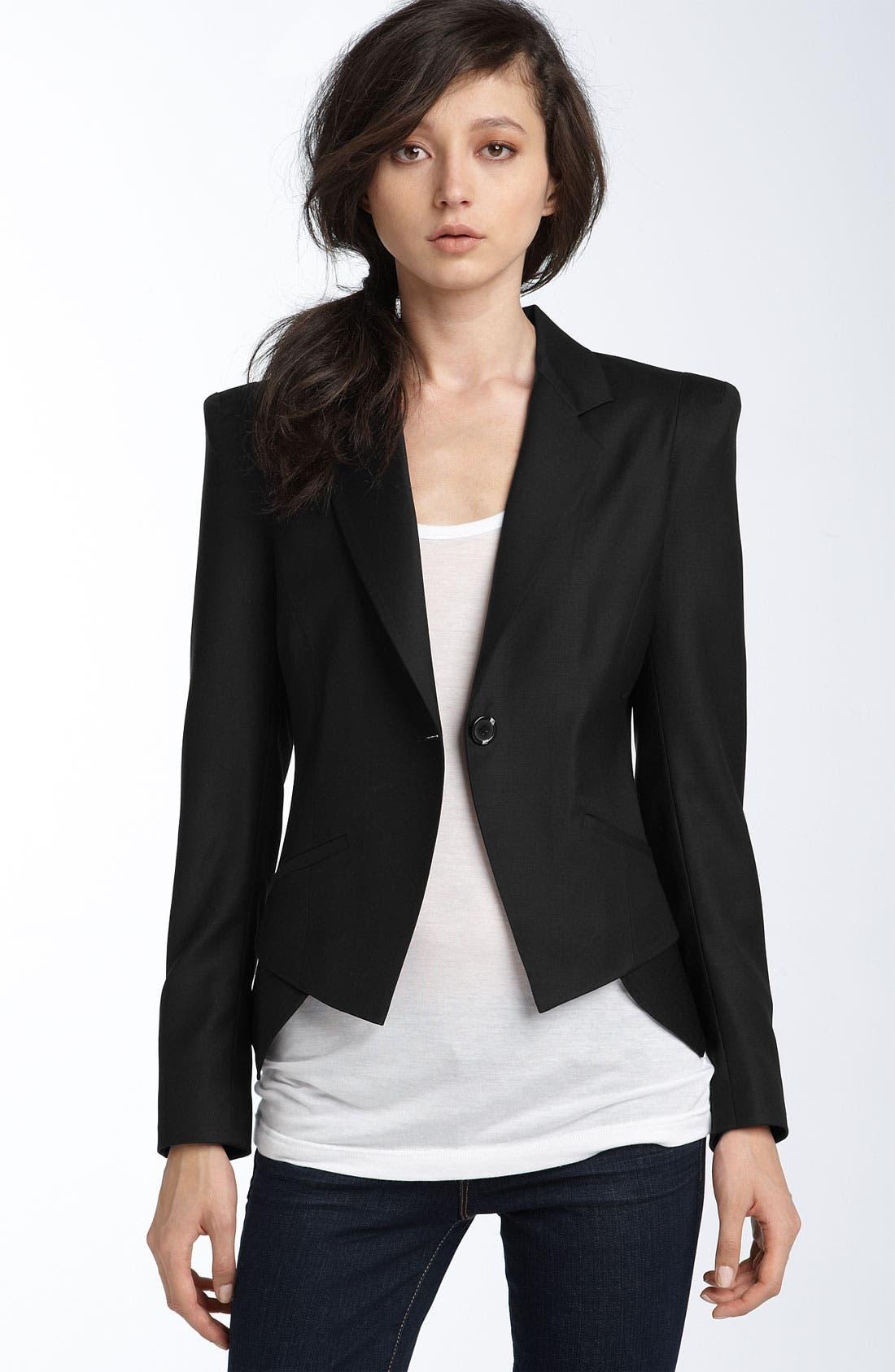 Kenna-T Blazer,                         Main,                         color,  Black