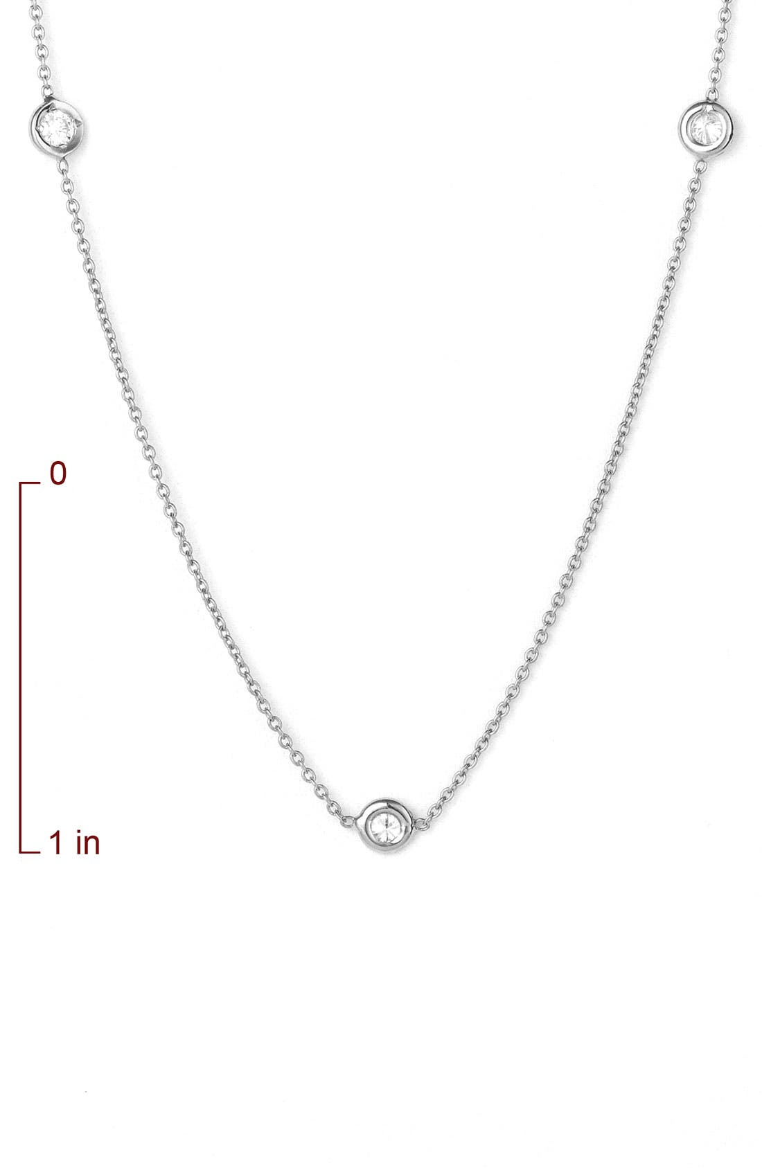 Alternate Image 2  - Roberto Coin 'Diamonds by the Inch' Station Necklace