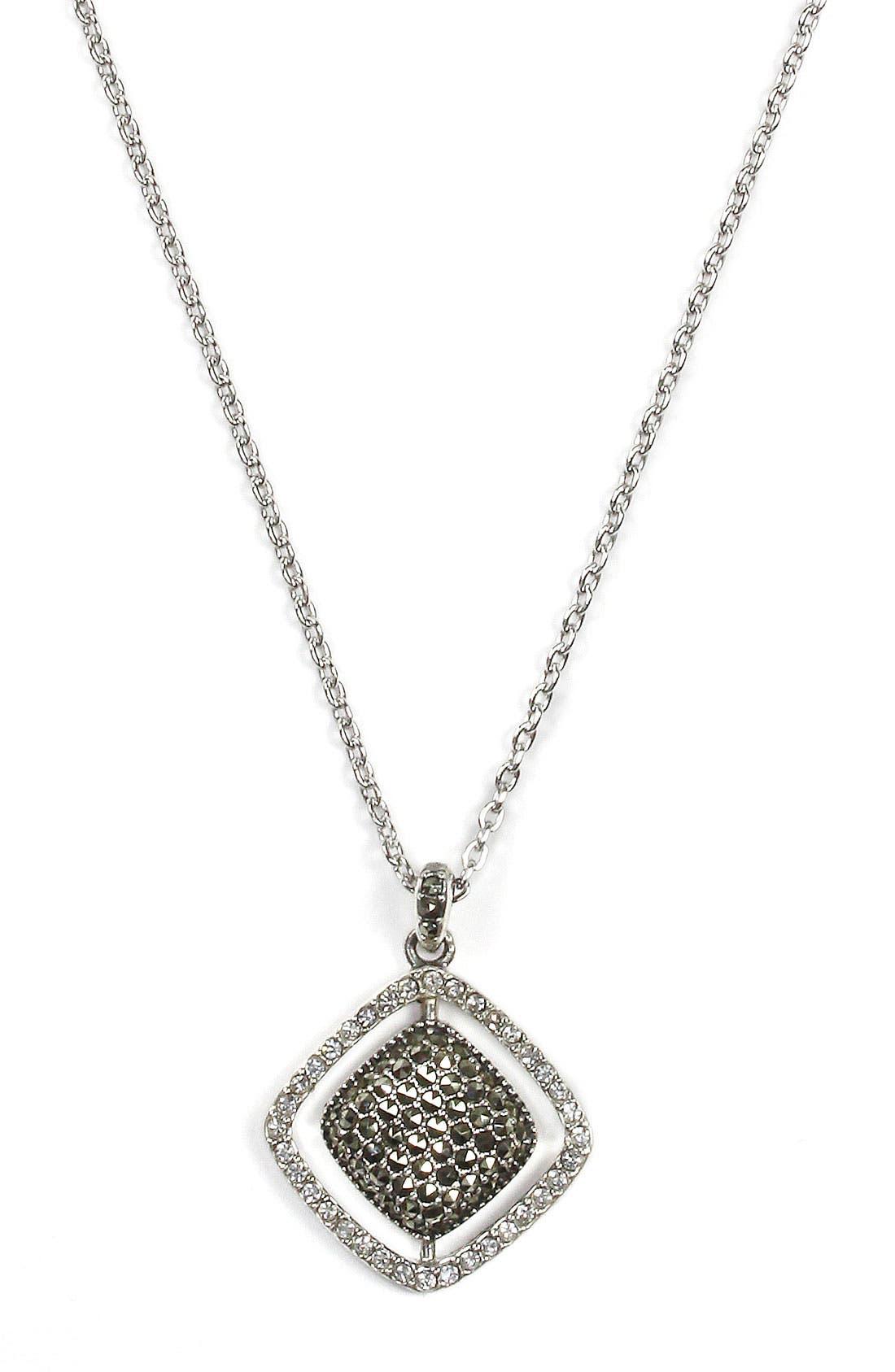Alternate Image 2  - Judith Jack Cushion Marcasite Pendant Necklace