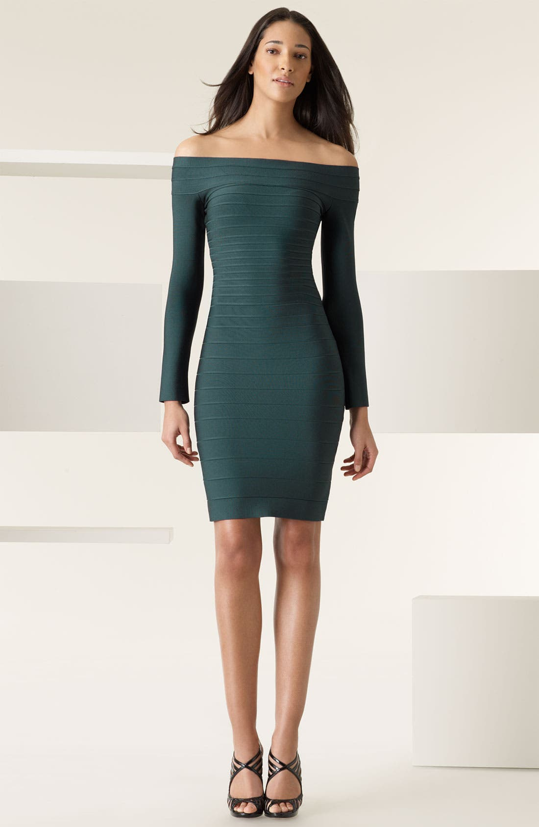 Main Image - Herve Leger Off Shoulder Bandage Dress