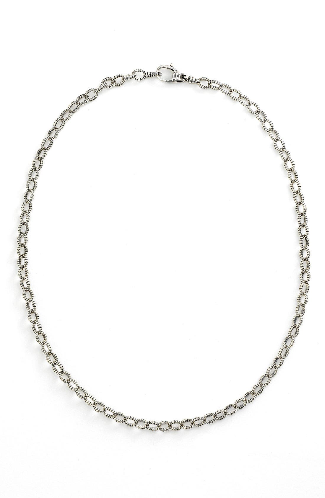 'Link' Sterling Silver Chain Necklace,                             Main thumbnail 1, color,                              Sterling Silver