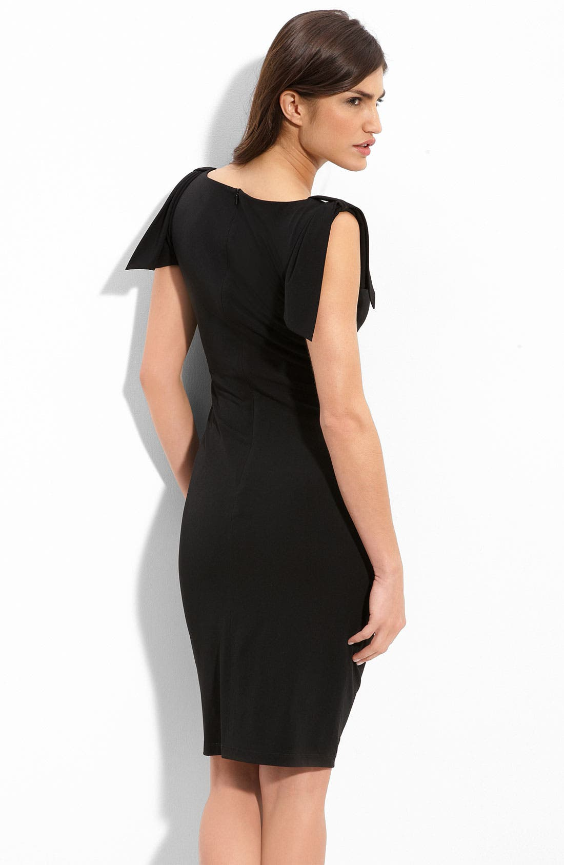 Alternate Image 2  - David Meister Asymmetrical Pleated Jersey Sheath Dress