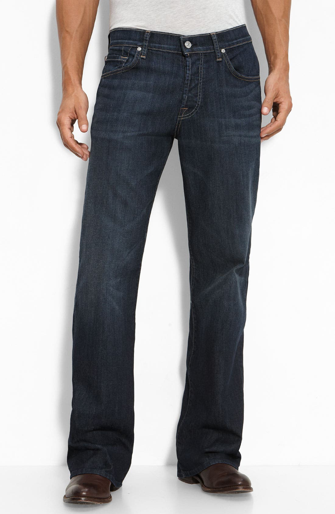 Alternate Image 2  - 7 For All Mankind® 'A-Pocket' Relaxed Fit Jeans (Worn Hawthorne)