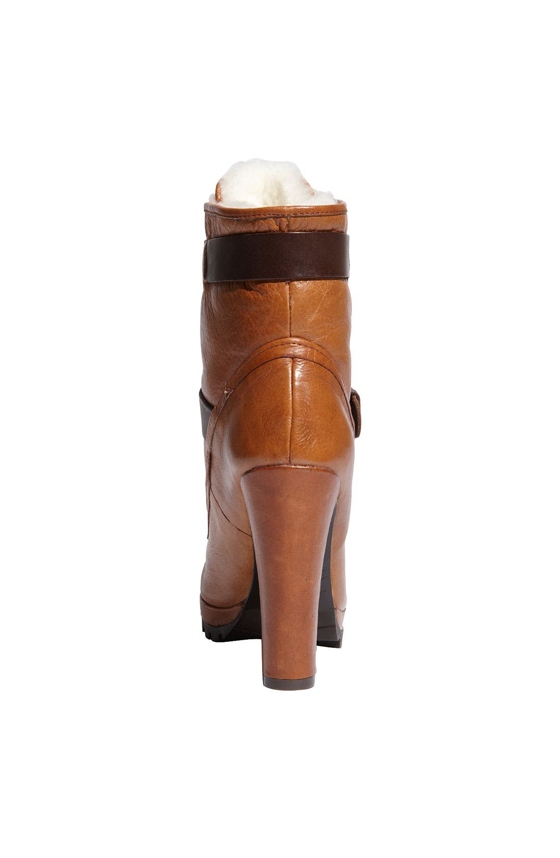 'Josh' Ankle Boot,                             Alternate thumbnail 4, color,                             Natural Leather