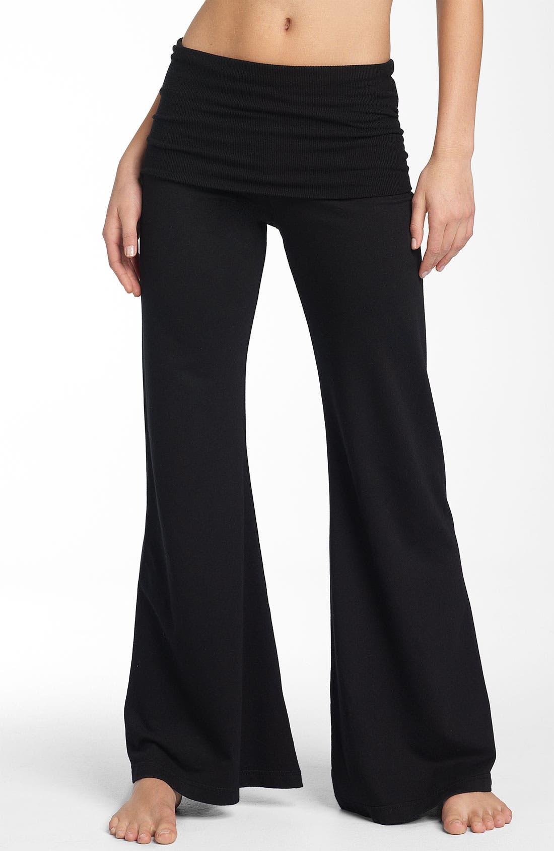 Main Image - Hard Tail Roll Waist Wide Leg Pants