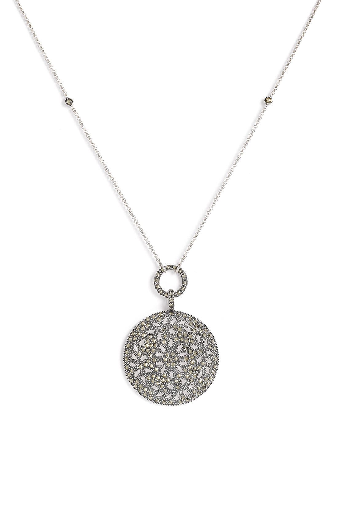 Main Image - Judith Jack Round Pendant Convertible Necklace