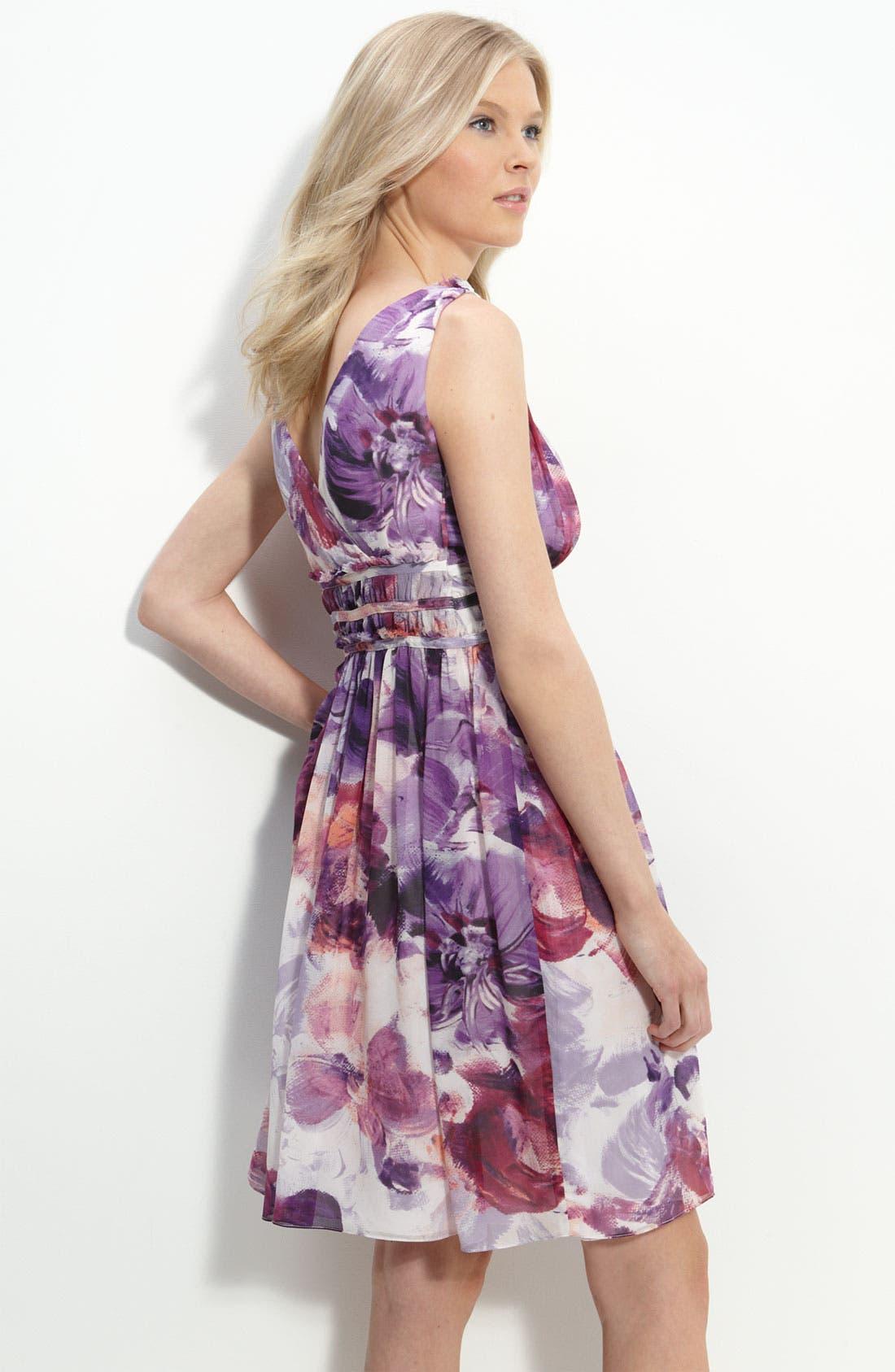 Alternate Image 2  - Donna Morgan Print Chiffon Dress
