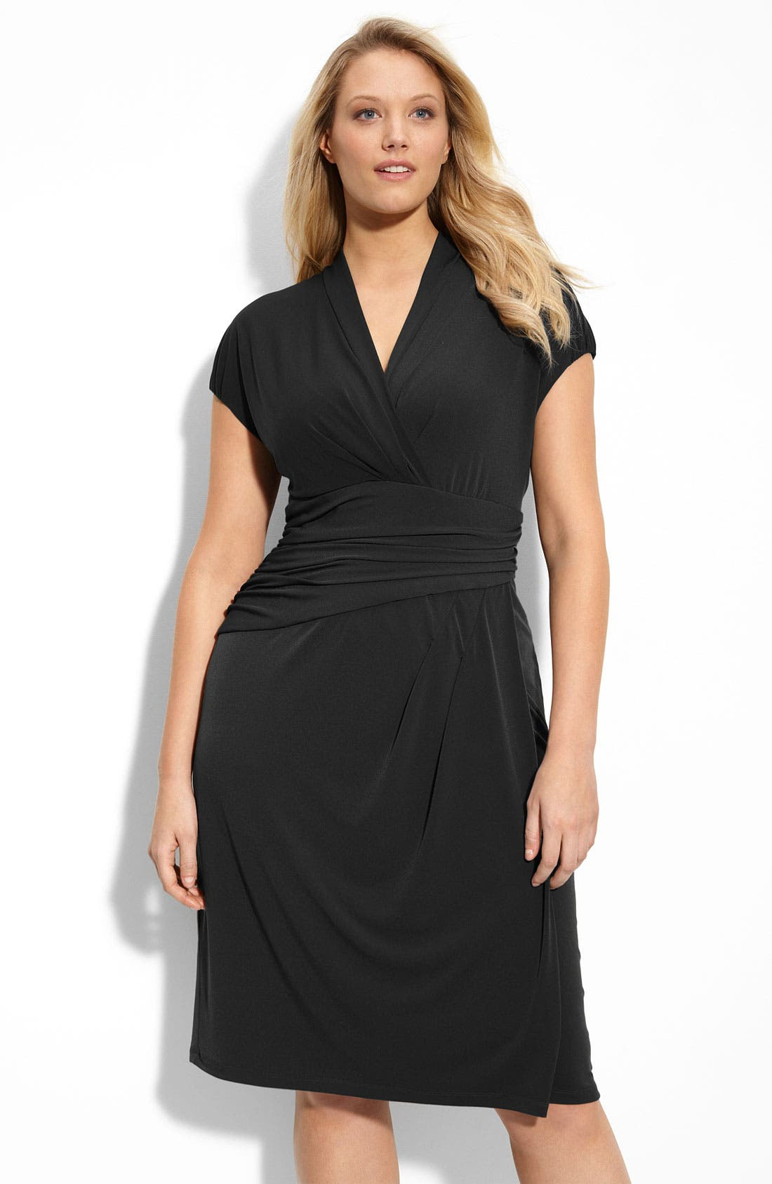 Main Image - Suzi Chin for Maggy Boutique Jersey Knit Dress (Plus Size)