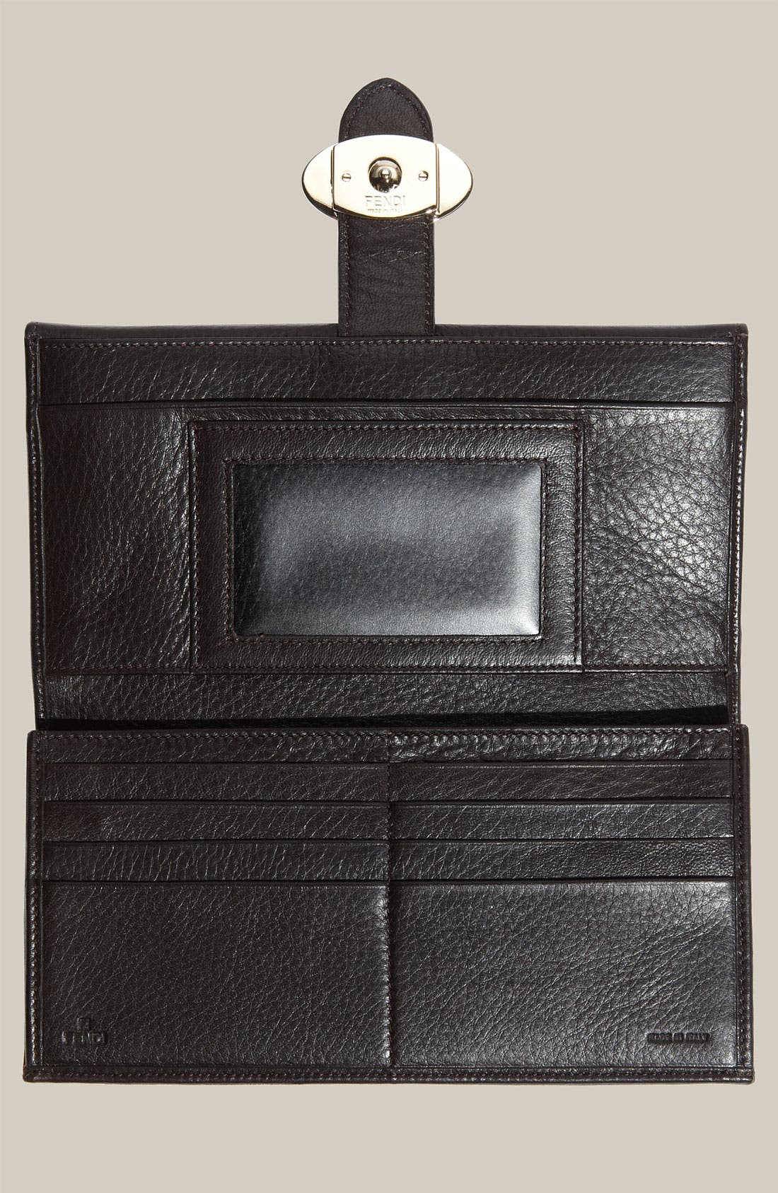 Alternate Image 3  - Fendi 'Zucca' Checkbook Wallet