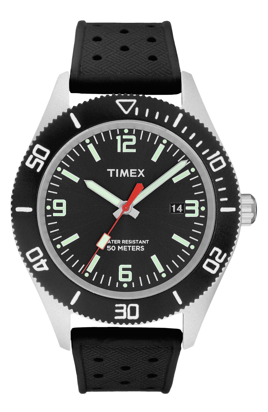 Alternate Image 1 Selected - Timex® 'Sport' Silicone Strap Watch