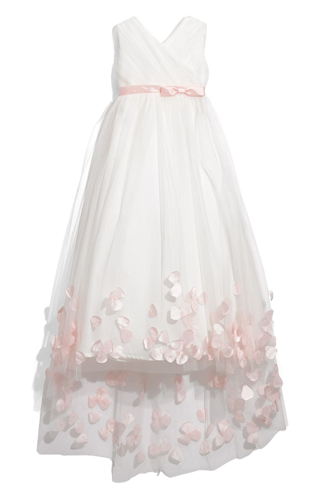Main Image - Joan Calabrese for Mon Cheri Tulle & Taffeta Floor Length Dress (Little Girls & Big Girls)