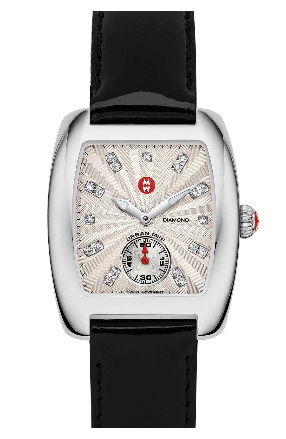 Alternate Image 3  - MICHELE Urban Mini Diamond Dial Watch Case, 29mm x 30mm