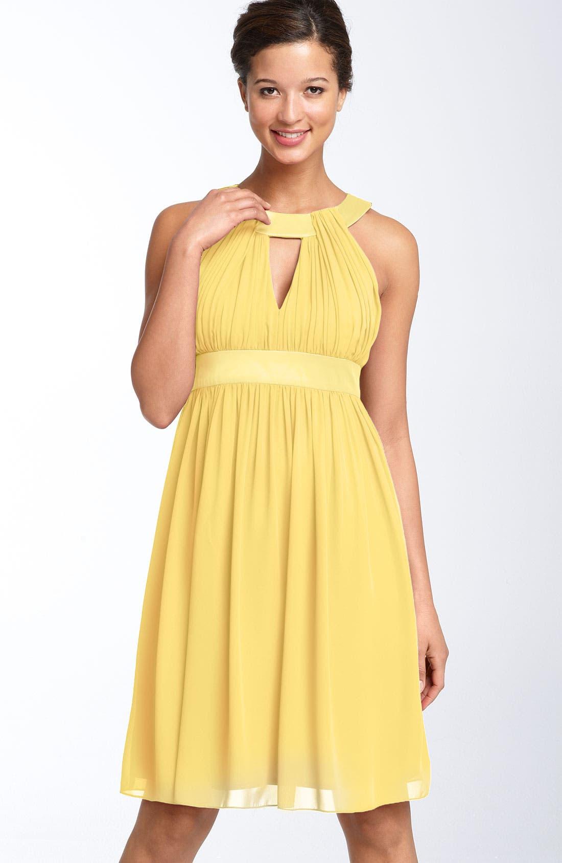 Alternate Image 1 Selected - Maggy London Keyhole Chiffon Dress