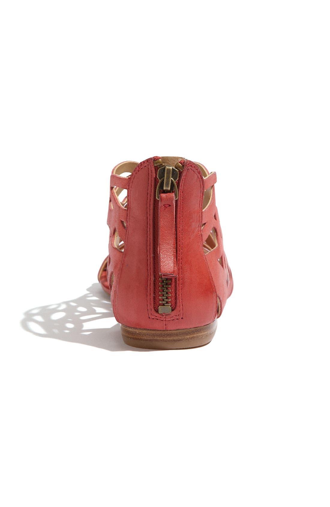 'Tali' Sandal,                             Alternate thumbnail 4, color,                             Red Leather