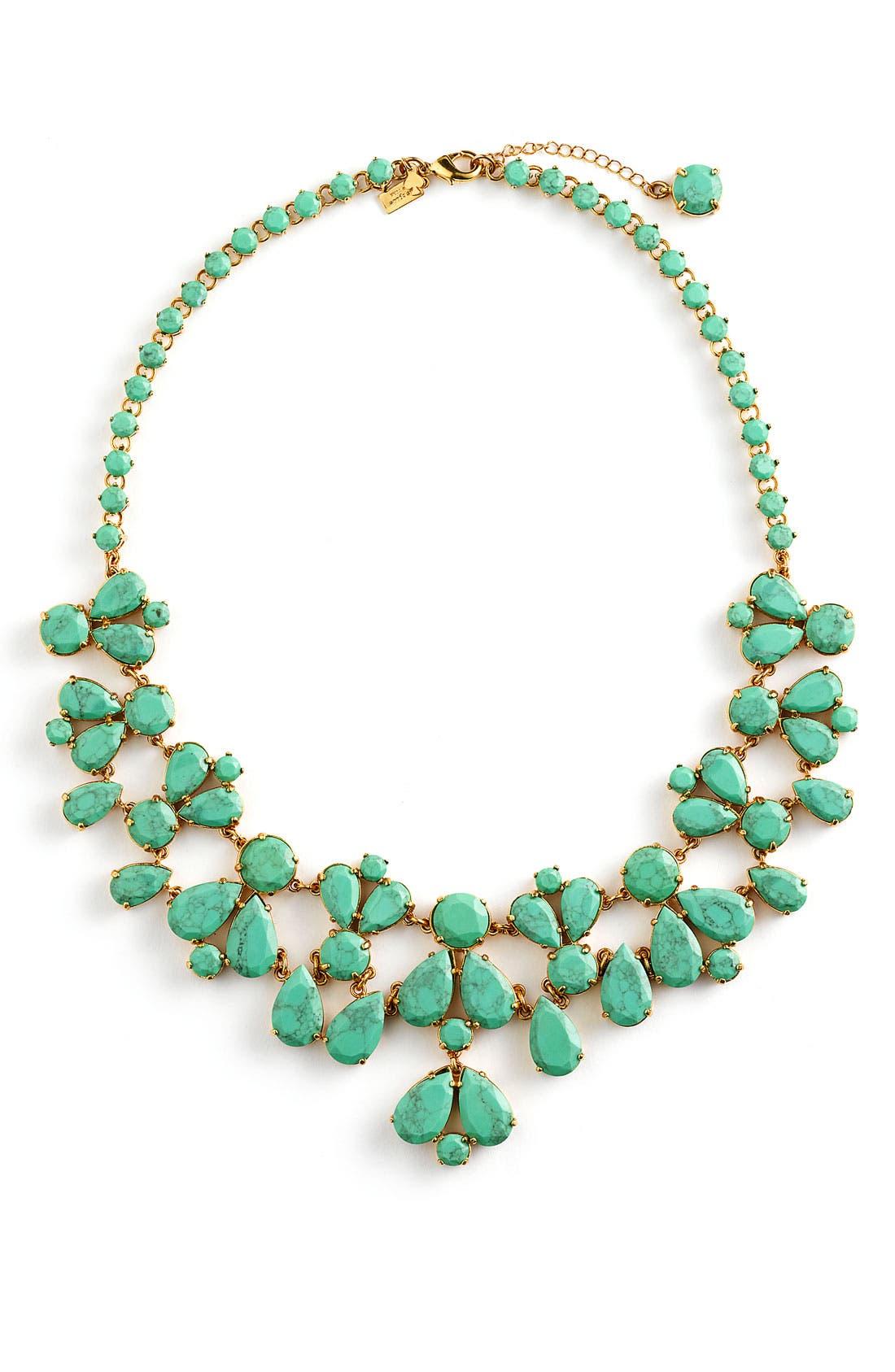 Alternate Image 1 Selected - kate spade new york 'fiorella' floral bib necklace
