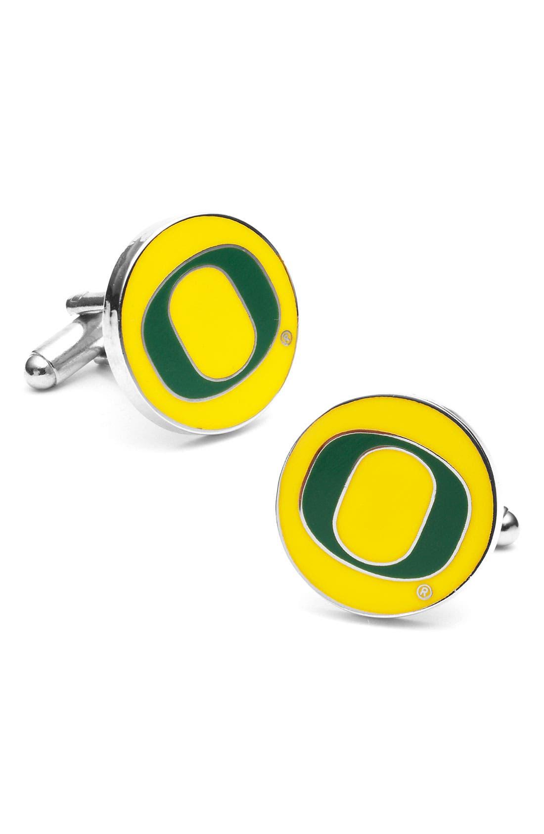 Alternate Image 1 Selected - Cufflinks, Inc. 'University of Oregon Ducks' Cuff Links