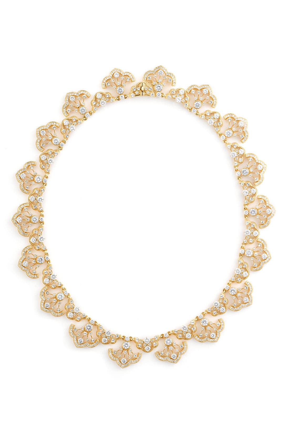 Alternate Image 1 Selected - Nadri Scalloped Crystal Necklace