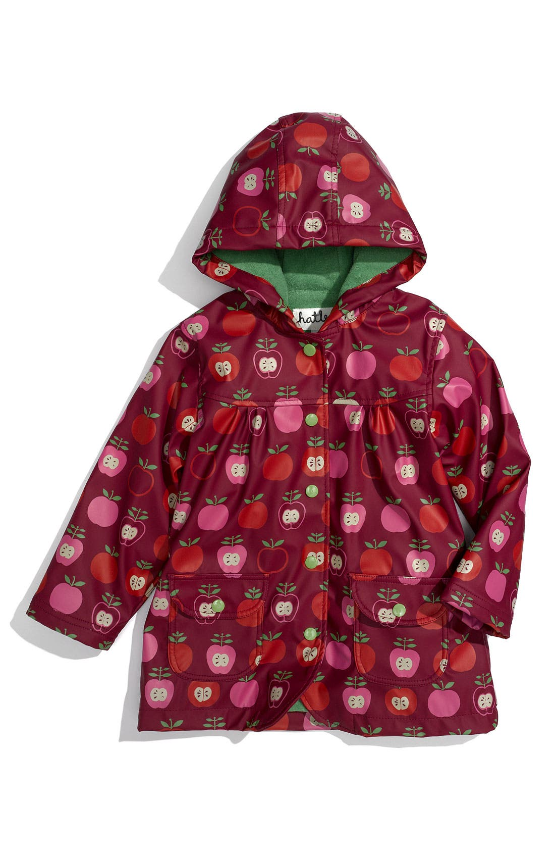 Alternate Image 1 Selected - Hatley Apple Print Raincoat (Infant, Toddler & Little Girls)