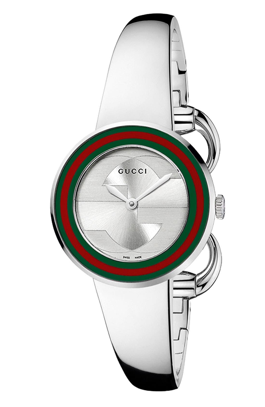 Alternate Image 1 Selected - Gucci 'U Play' Steel Bangle Watch, 27mm