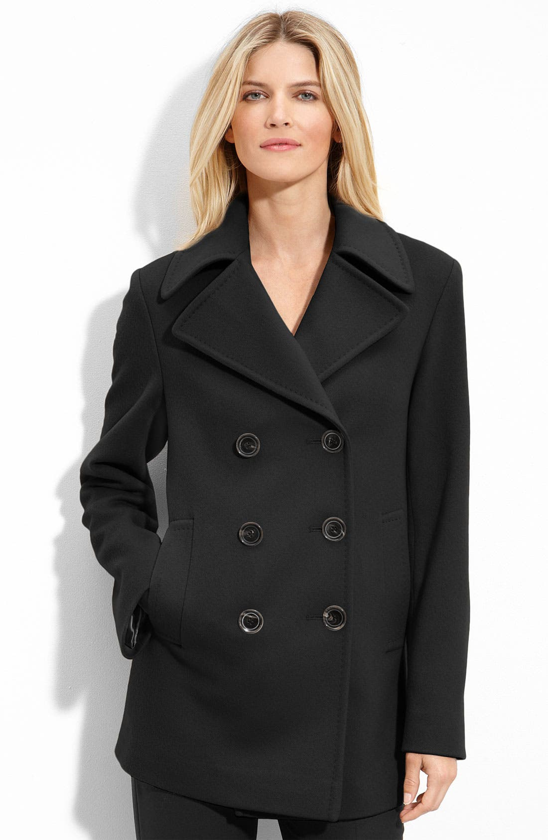Alternate Image 1 Selected - Fleurette Double Breasted Wool Coat