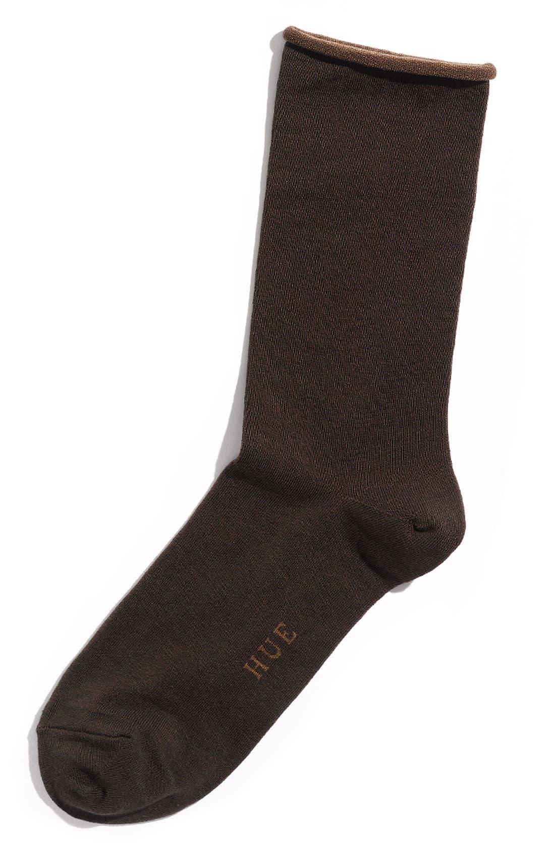 'Jeans' Socks,                         Main,                         color, Espresso