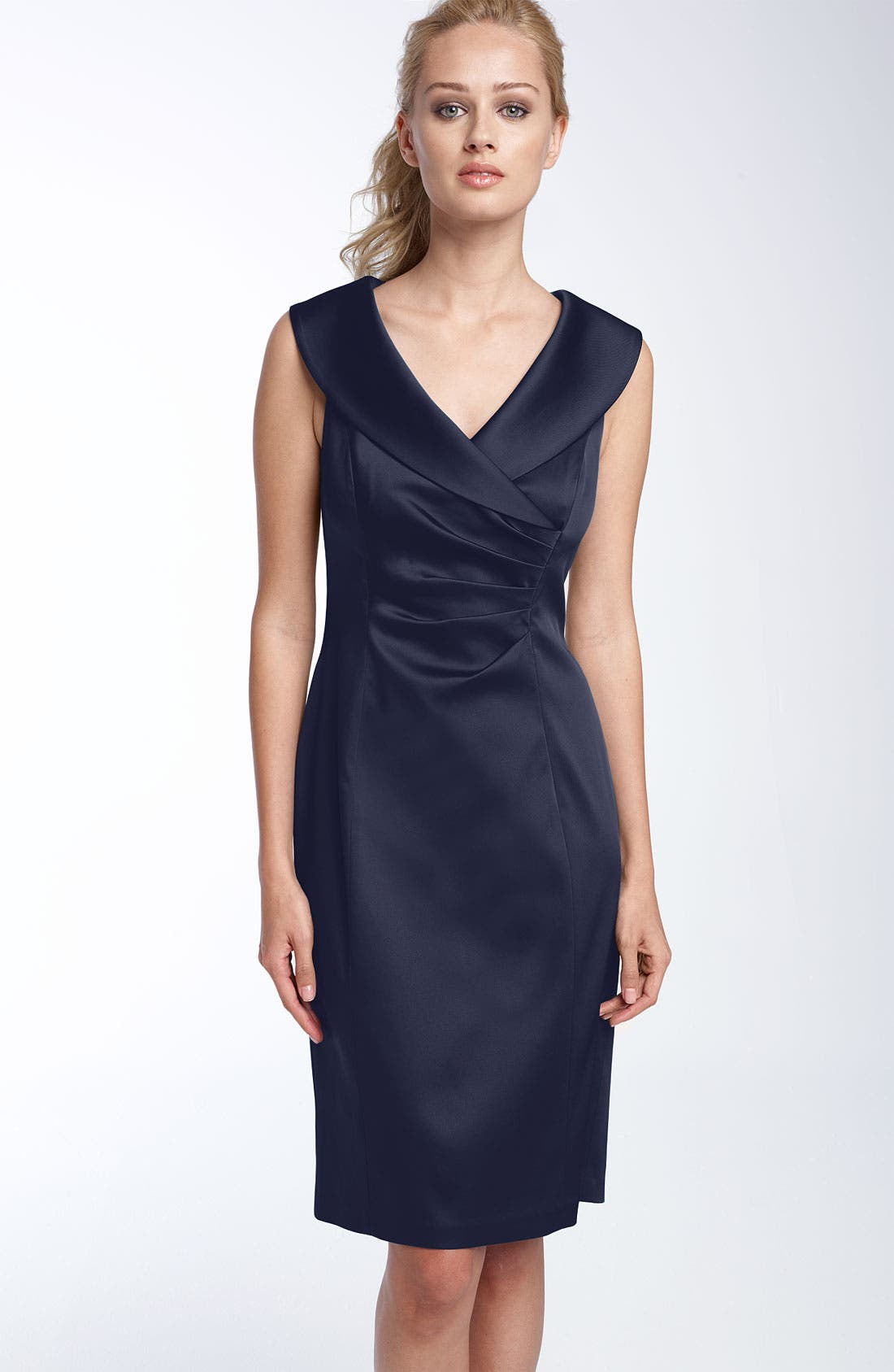 Satin Black Sheath Dress