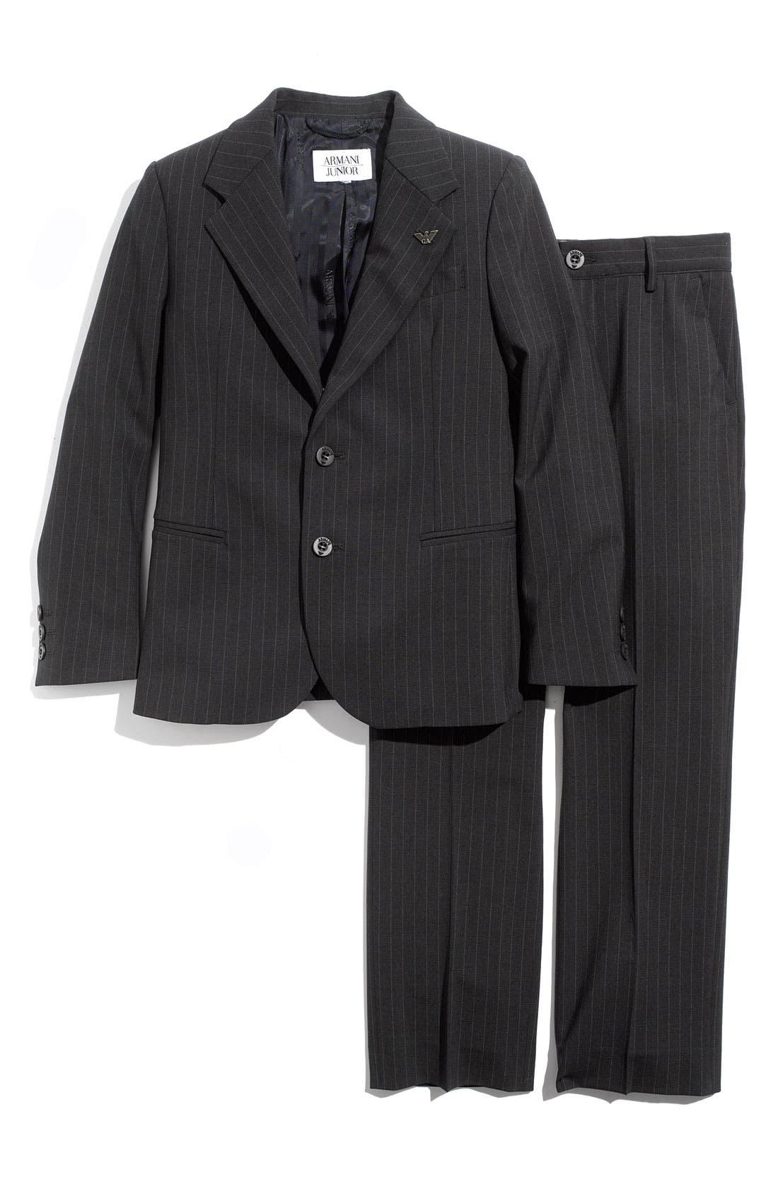Alternate Image 1 Selected - Armani Junior Two Piece Suit (Big Boys)
