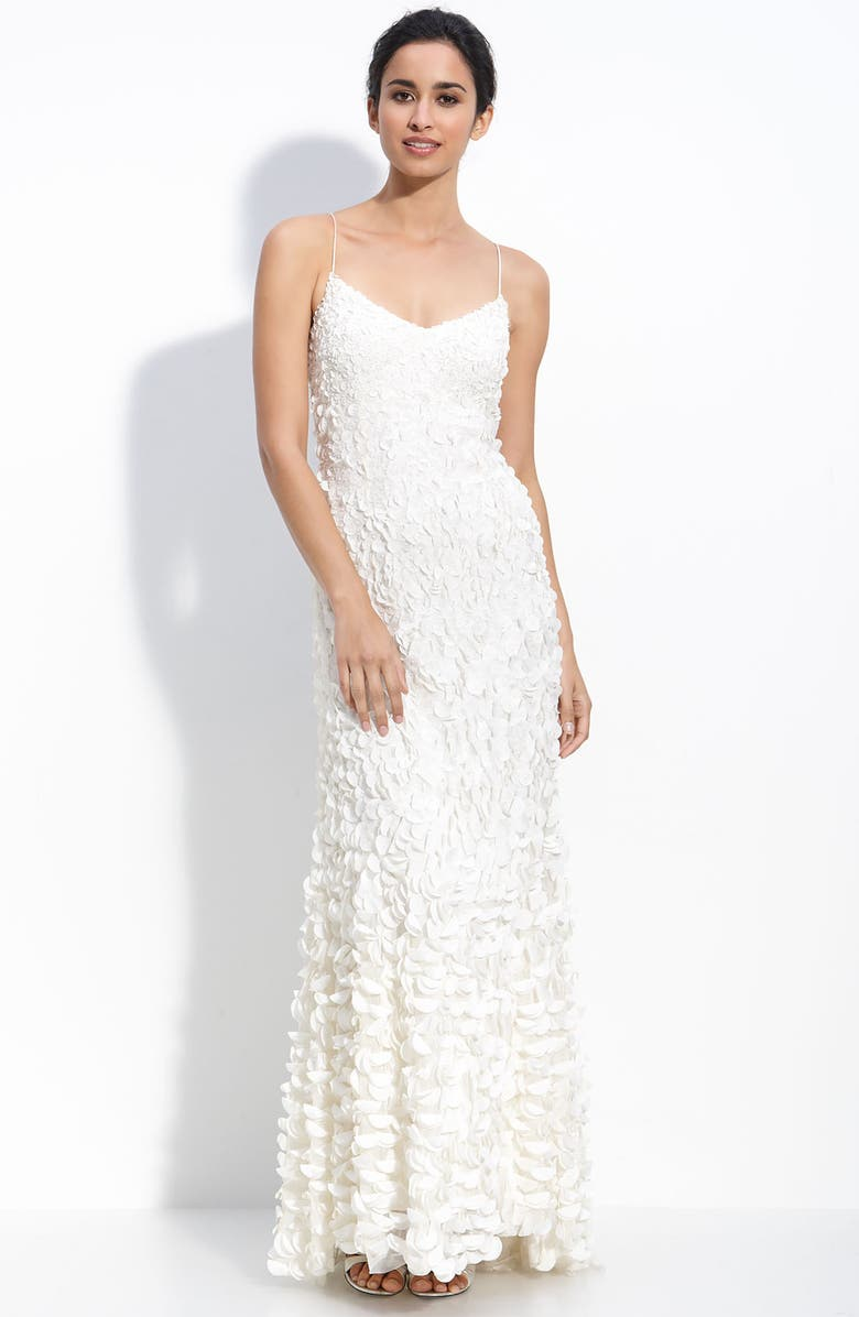 Theia Chiffon Petal Gown with Train | Nordstrom