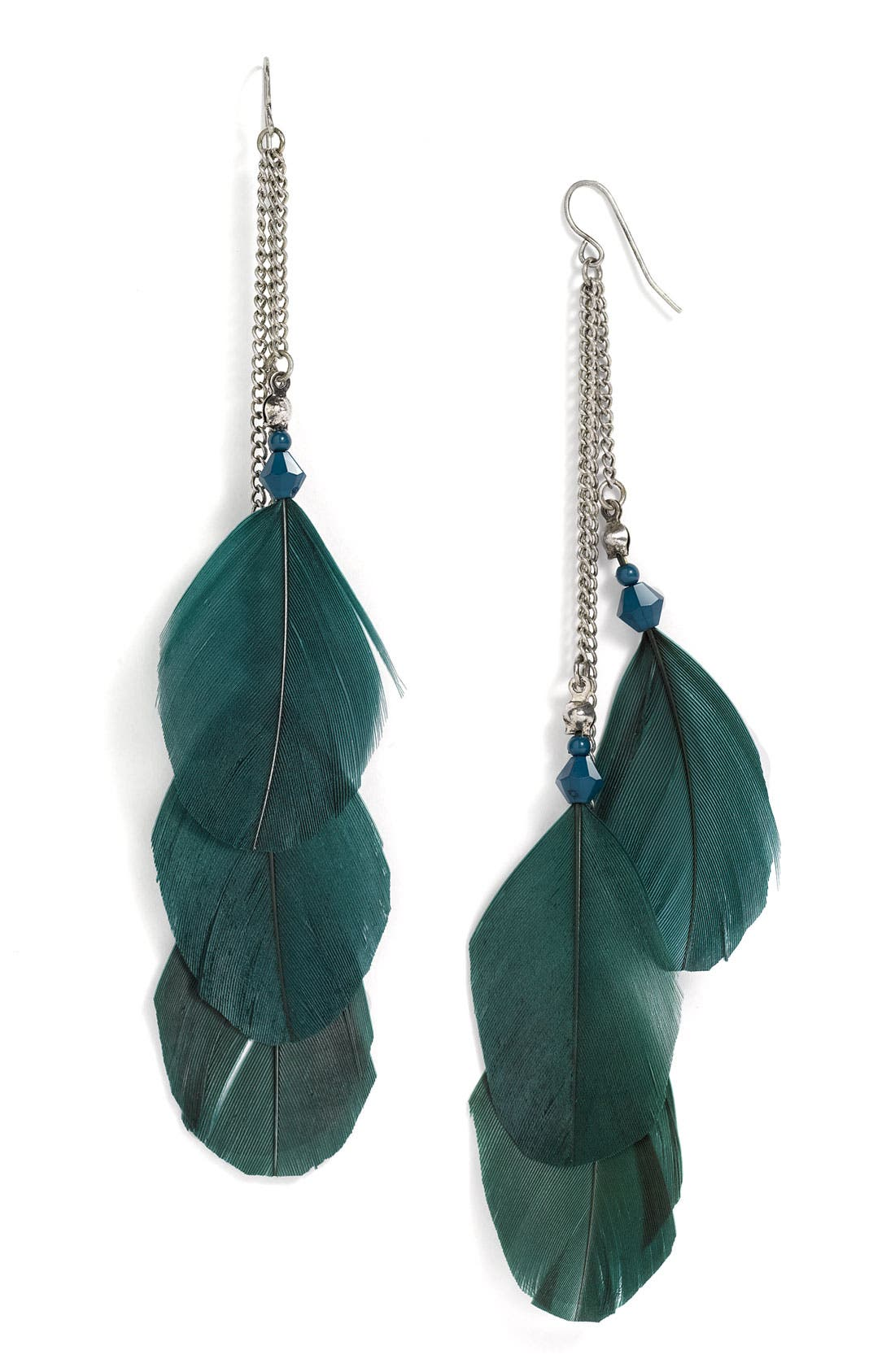 Alternate Image 1 Selected - Stephan & Co. Feather & Bead Earrings