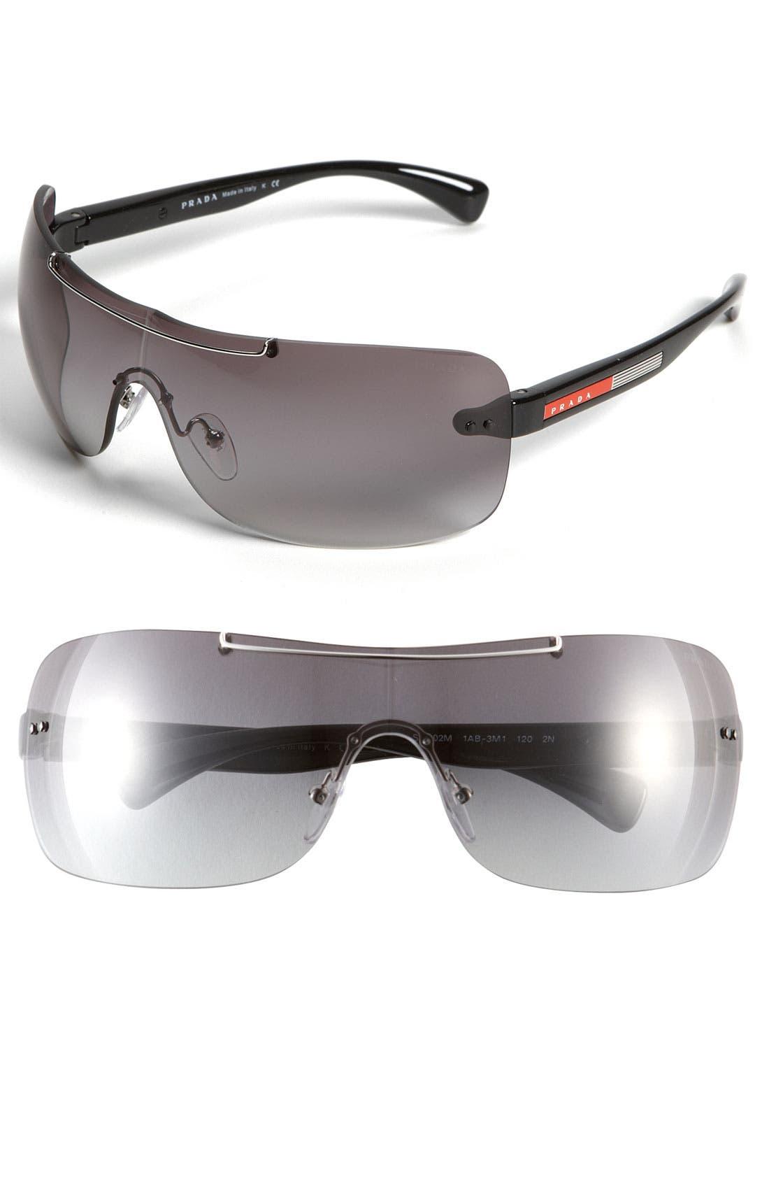 Main Image - Prada Rimless Shield Sunglasses