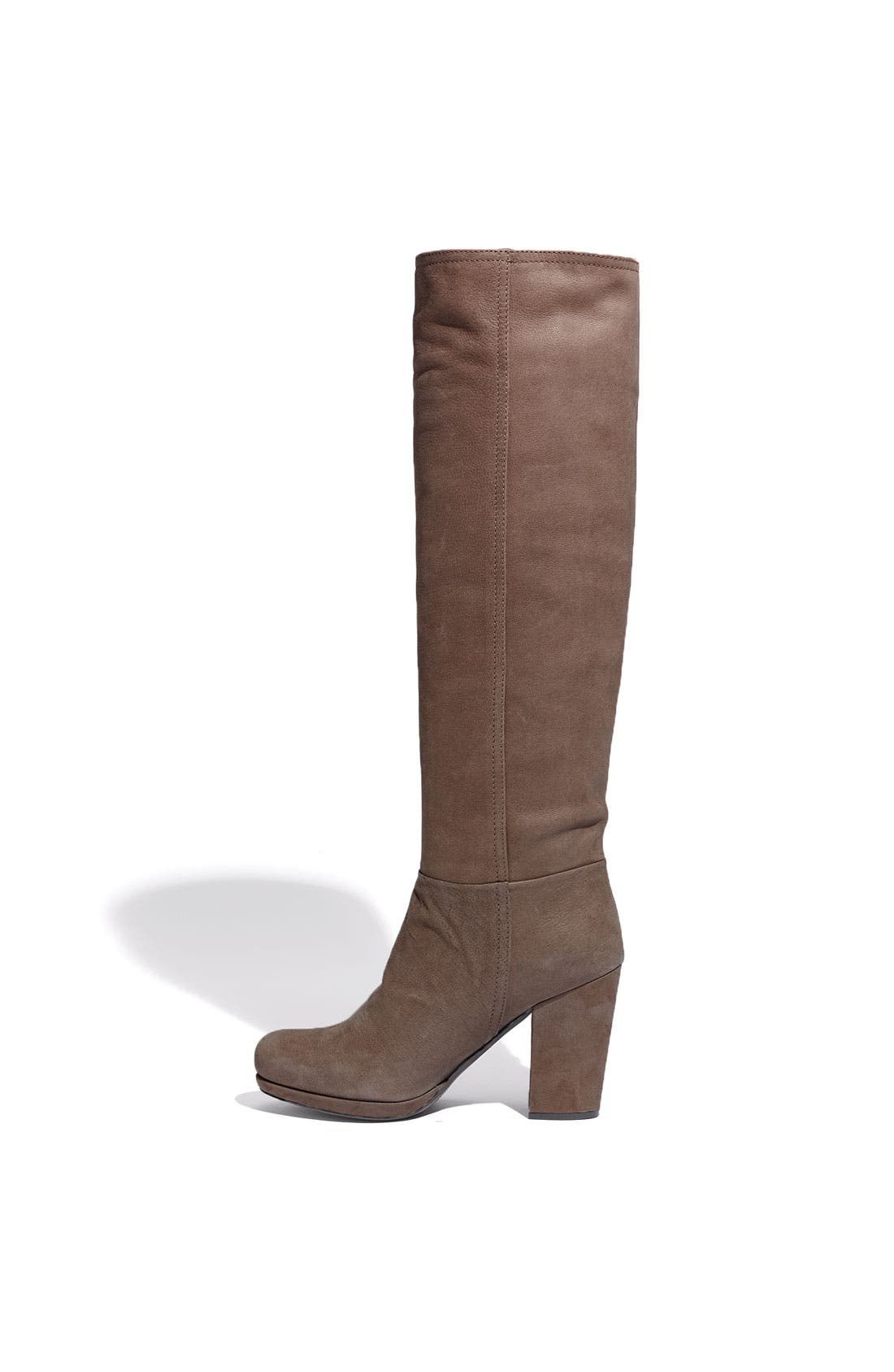Leather Tall Boot,                             Alternate thumbnail 2, color,                             Mogano