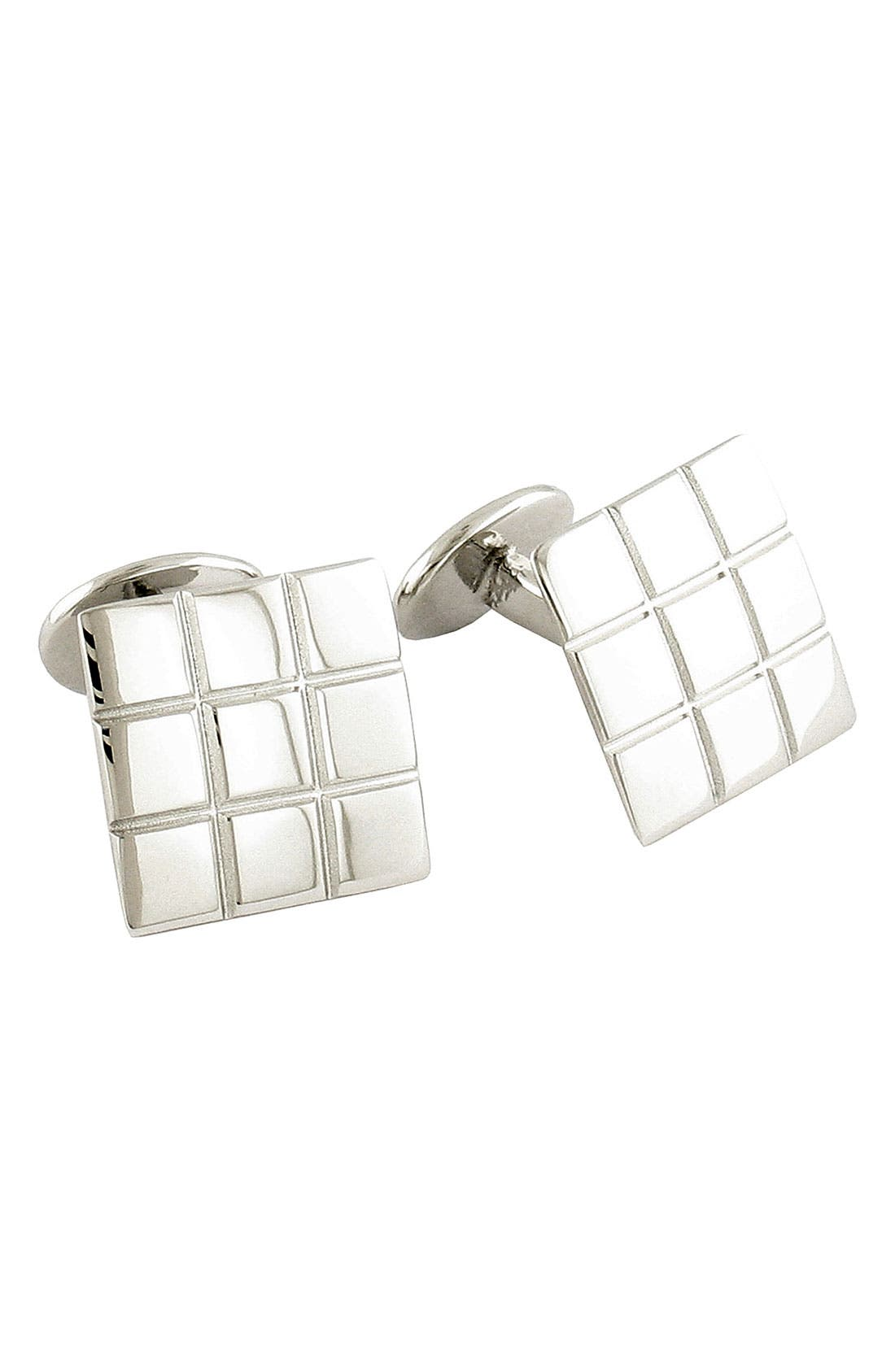 Main Image - David Donahue '9 Squared' Sterling Silver Cuff Links