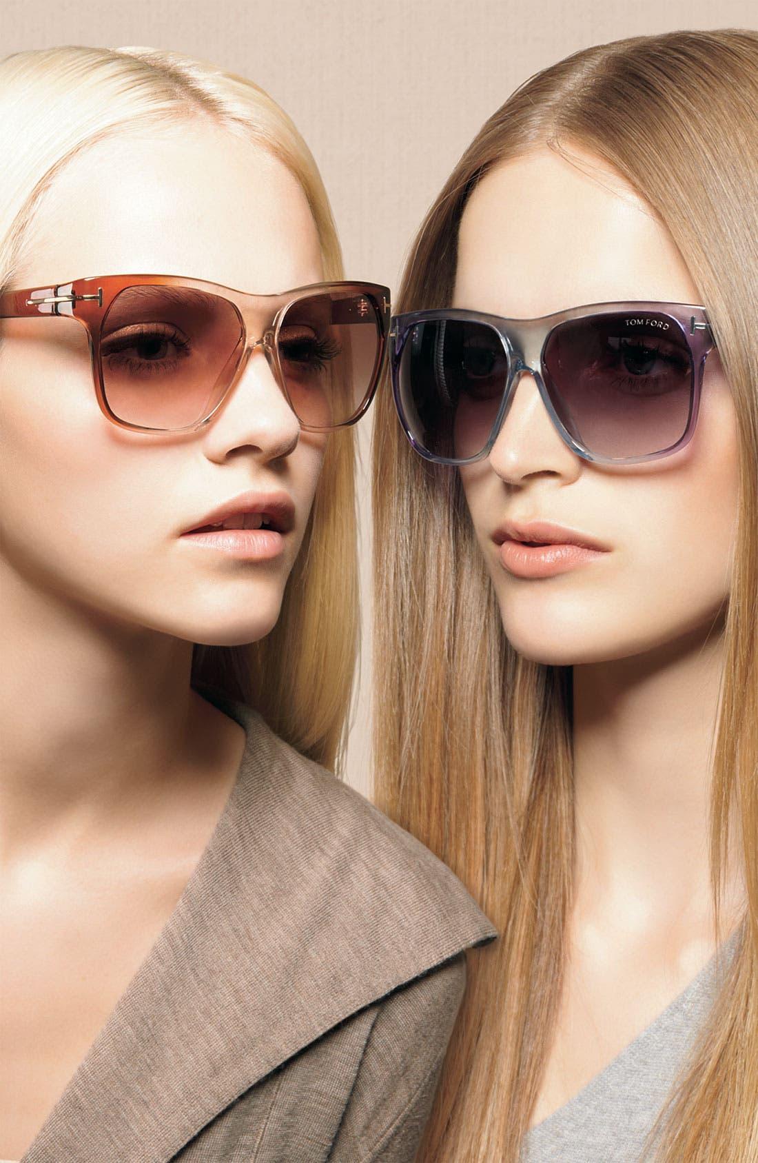 Alternate Image 2  - Tom Ford Oversized Retro Sunglasses