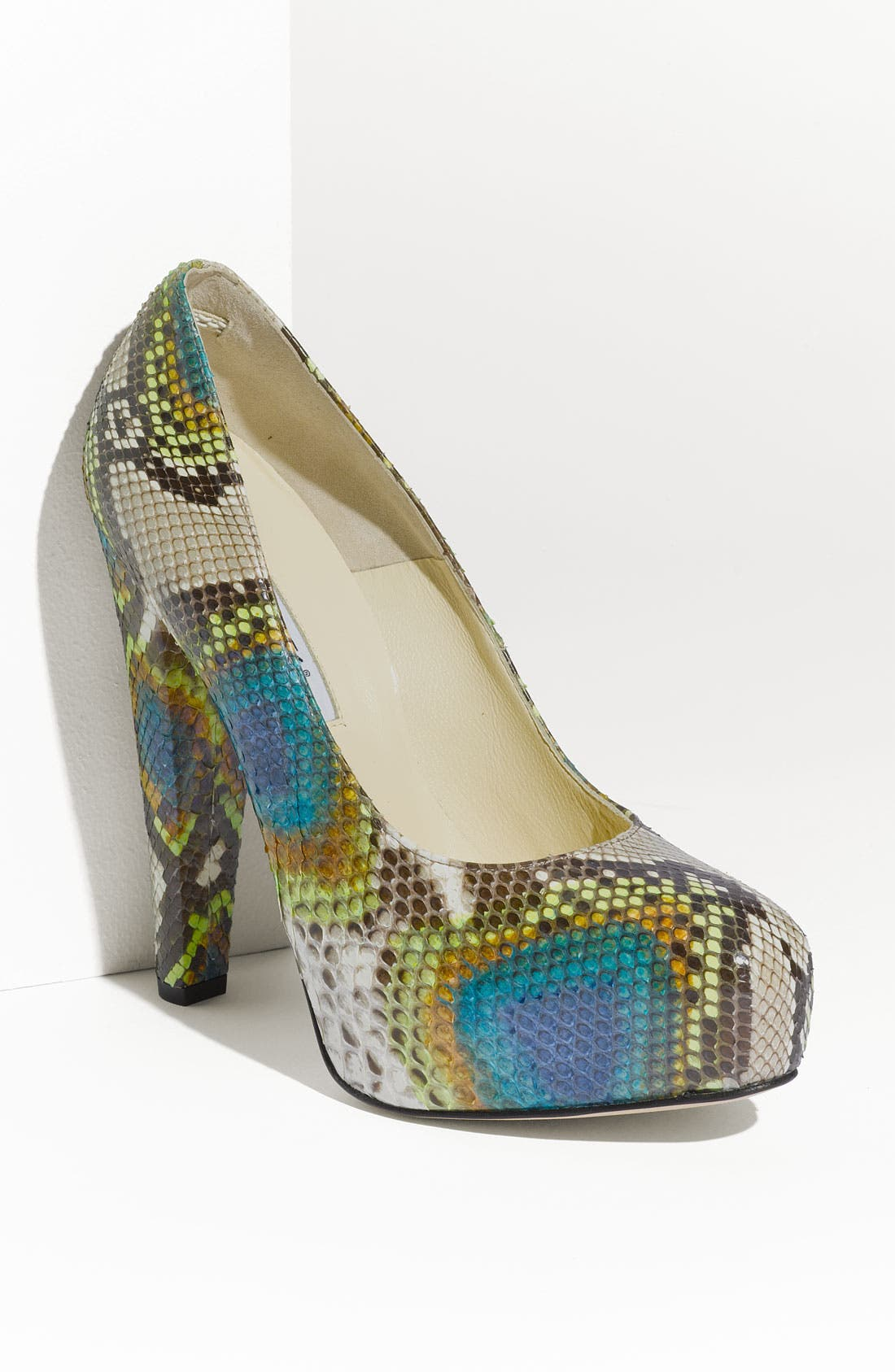 Alternate Image 1 Selected - Brian Atwood Genuine Python Platform Pump