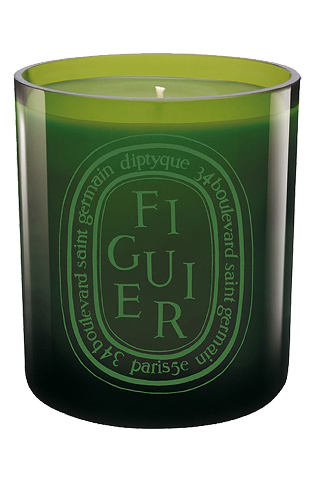 Figuier/Fig Tree Scented Green Candle,                             Main thumbnail 1, color,