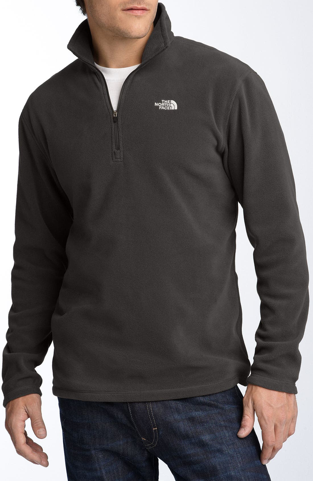 Main Image - The North Face 'TKA 100 Microvelour Glacier' Quarter Zip Fleece Pullover