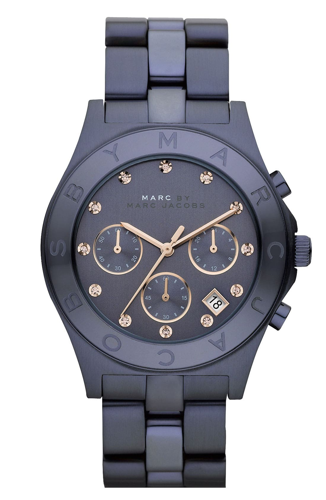 'Blade' Crystal Index Watch,                         Main,                         color, Blue