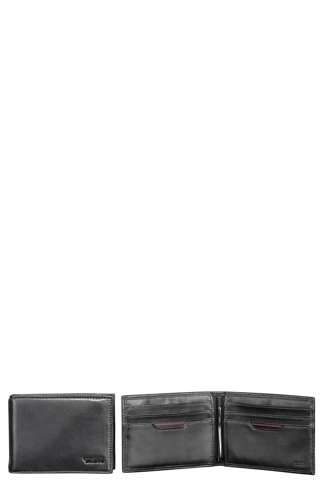 'Delta' Money Clip Wallet,                         Main,                         color, Black