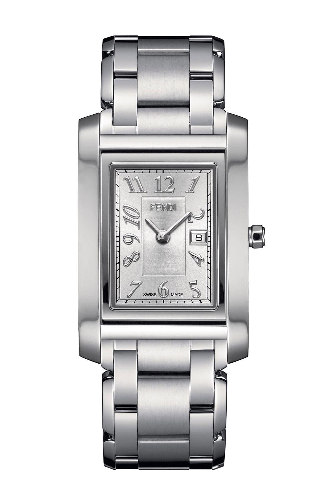 Main Image - Fendi 'Loop - Large' Rectangular Bracelet Watch