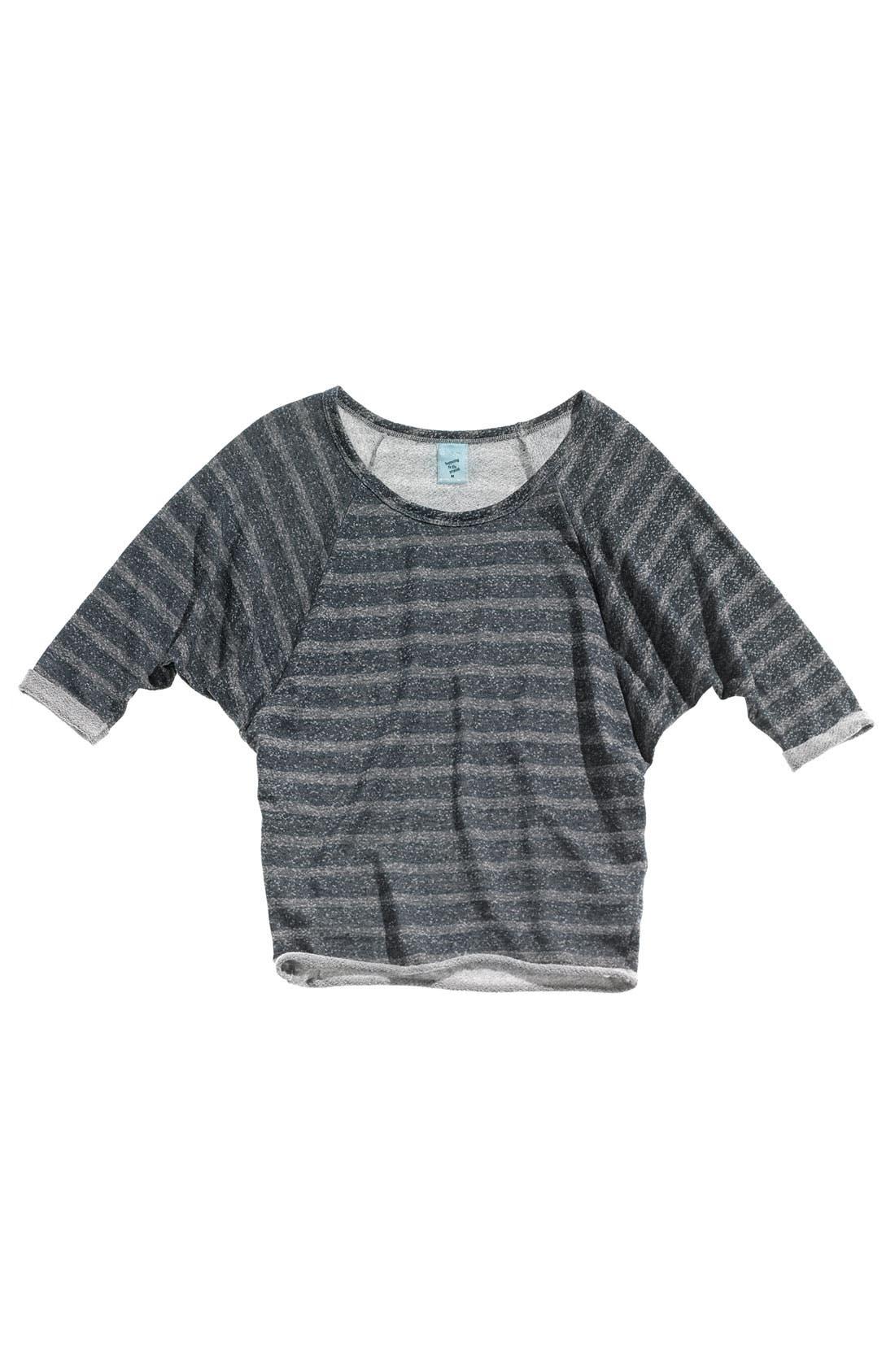 Alternate Image 2  - h.i.p. Raglan Sleeve Fleece Top (Juniors)