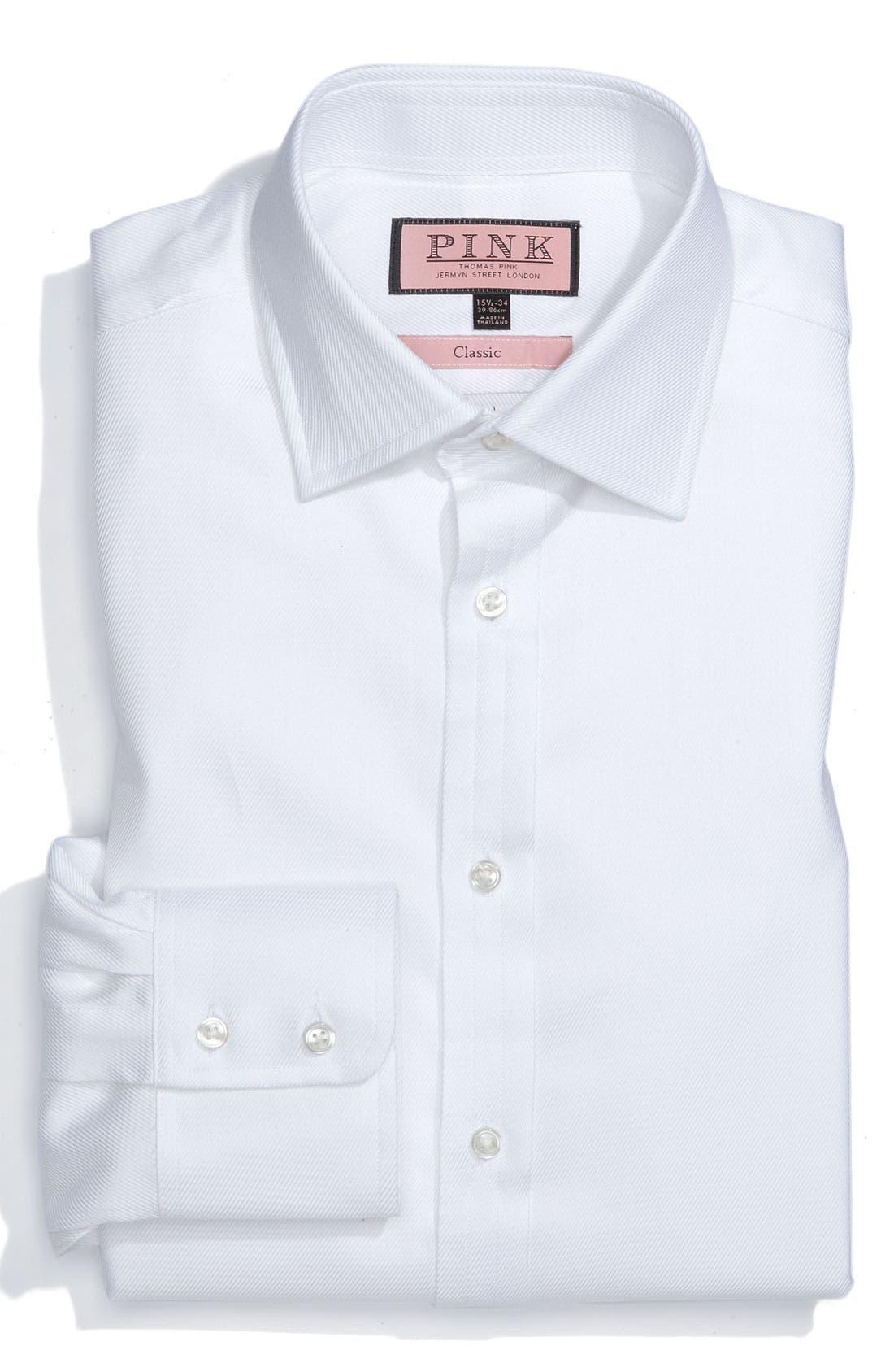 Alternate Image 1 Selected - Thomas Pink Classic Fit Dress Shirt