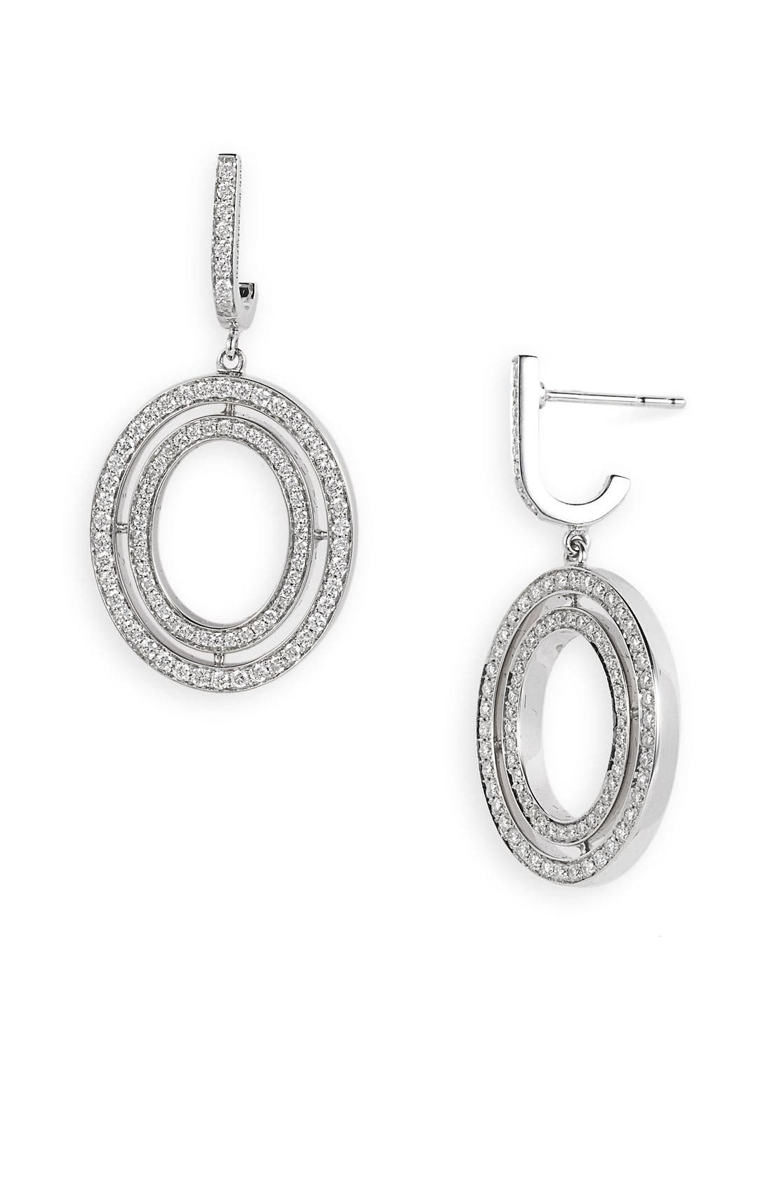 Alternate Image 1 Selected - Ivanka Trump Small Oval Diamond Drop Earrings