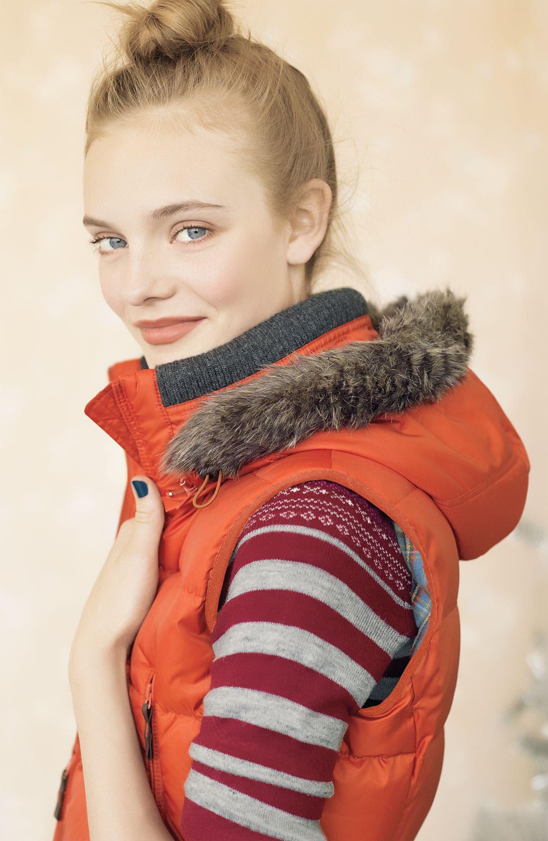 Alternate Image 4  - Kristen Blake Quilted Vest with Faux Fur Trim